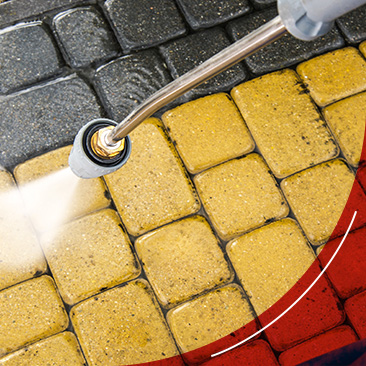 power washing yellow brick